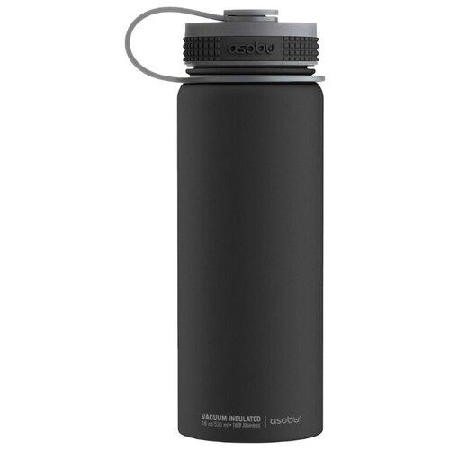 Термос-фляга asobu Alpine flask (0,53 л) черныйТермосы и термокружки<br>