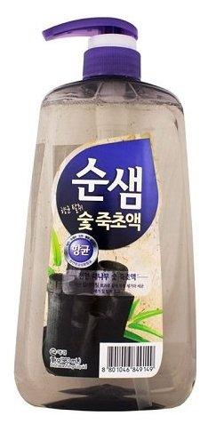 Средство для мытья посуды KERASYS Сунсэм Бамбуковый уголь 1.2л, мягкая упаковка