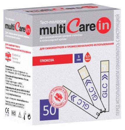 MultiCare in тест полоски глюкоза