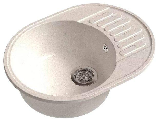 Врезная кухонная мойка GranFest ECO-58 58х45см искусственный мрамор