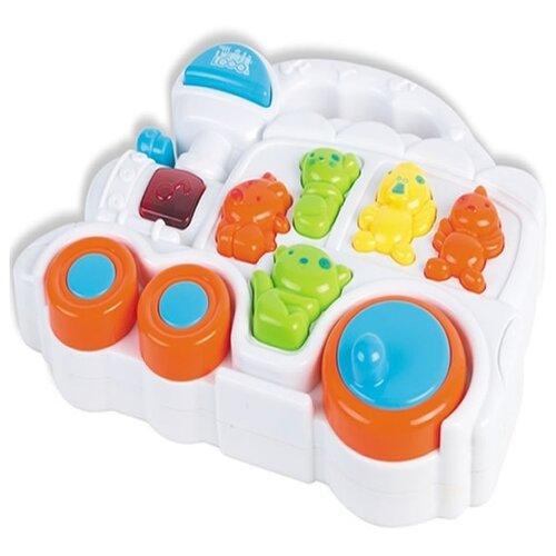 Купить Интерактивная развивающая игрушка Shantou Gepai Музыкальный паровозик белый/желтый/оранжевый, Развивающие игрушки