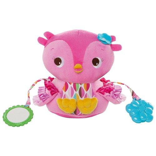 Купить Прорезыватель-погремушка Bright Starts Совушка розовый, Погремушки и прорезыватели
