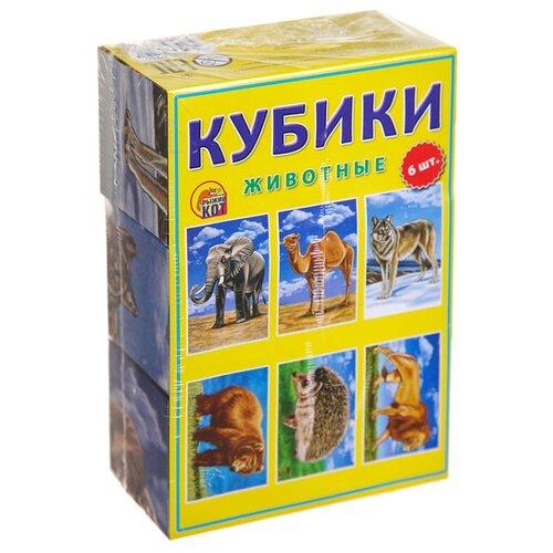 Купить Кубики-пазлы Рыжий кот Животные К06-6936, Детские кубики
