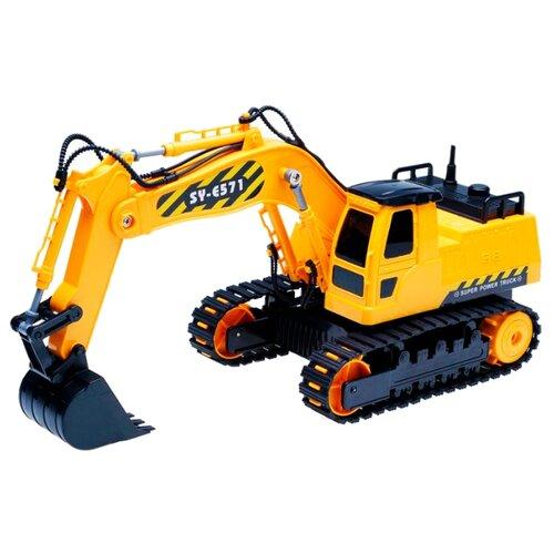 Купить Экскаватор Double Eagle E571-003 1:26 38.5 см желтый, Радиоуправляемые игрушки