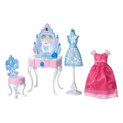 Купить Hasbro Туалетный столик Золушки (B5309/B5311) голубой, Мебель для кукол