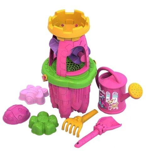 Купить Набор Нордпласт 431839 Барби №4 желтый/розовый/зеленый, Наборы в песочницу