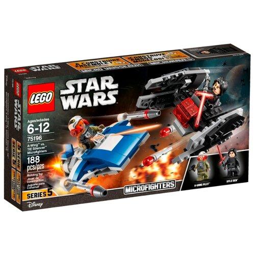 Купить Конструктор LEGO Star Wars 75196 Истребитель типа A против бесшумного истребителя СИД, Конструкторы