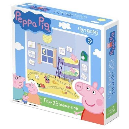 Купить Пазл Origami Peppa Pig Спальня Пеппы (01582), 25 дет., Пазлы