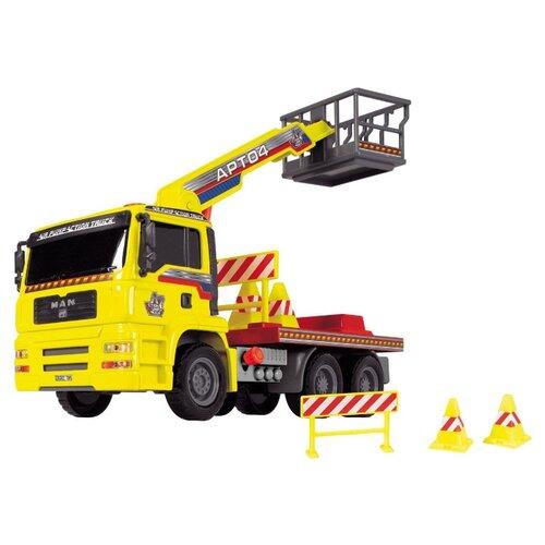 Подъемный кран Dickie Toys Air Pump (3805002) 29 см желтый/красныйМашинки и техника<br>