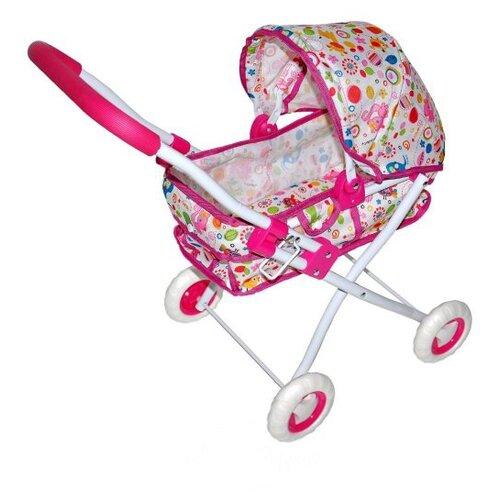 Купить Коляска-люлька Mary Poppins Фантазия малиновая 67322 розовый, Коляски для кукол