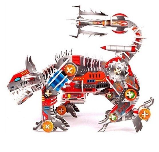 3D-пазл Zilipoo 3D Робот Атакующая рысь (566-E) , элементов: 119 шт.