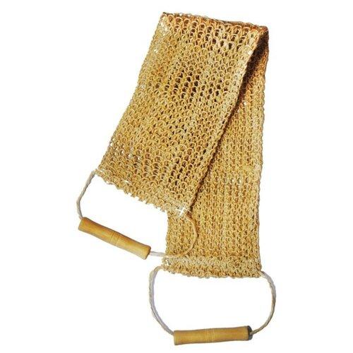 Мочалка Beauty format пояс среднего плетения из сизаля (45590-4004) бежевый