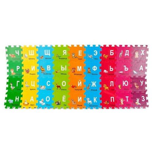 Купить Коврик-пазл Играем вместе Животные с вырезанными буквами (FS-ABC36-ZOO), Игровые коврики