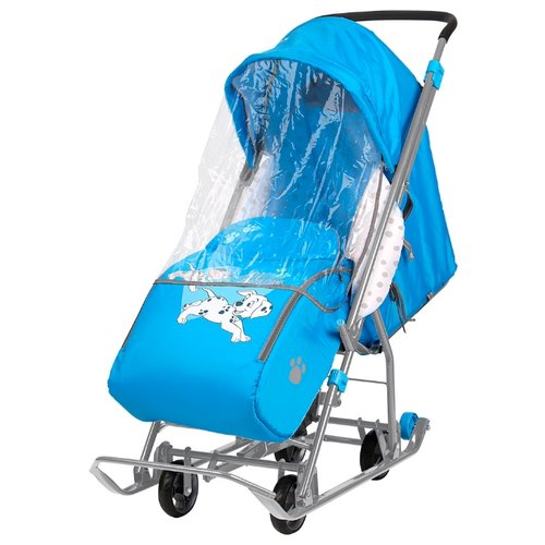 Санки-коляска Nika Disney baby 1 (DB1) с далматинцами голубой санки коляска kristy comfort plus 3в вк голубой зоопарк