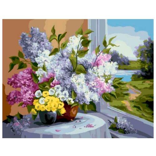 """Цветной Картина по номерам """"Букет у окна"""" 40х50 см (GX8248)"""