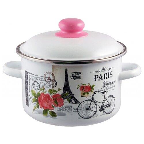 Кастрюля Appetite Париж 3 л, белый/розовый appetite sh05473