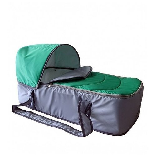 Люлька-переноска Карапуз Кокон серый/зеленый сумки переноски карапуз кокон
