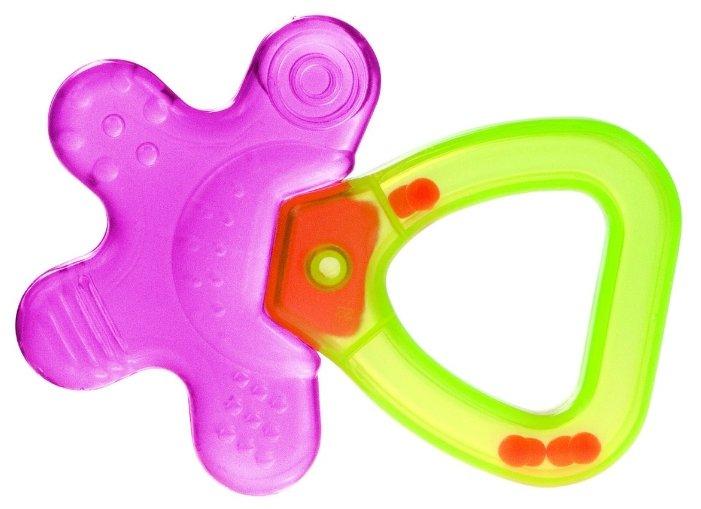 Прорезыватель-погремушка Canpol Babies Цветок 74/002 розовый/желтый