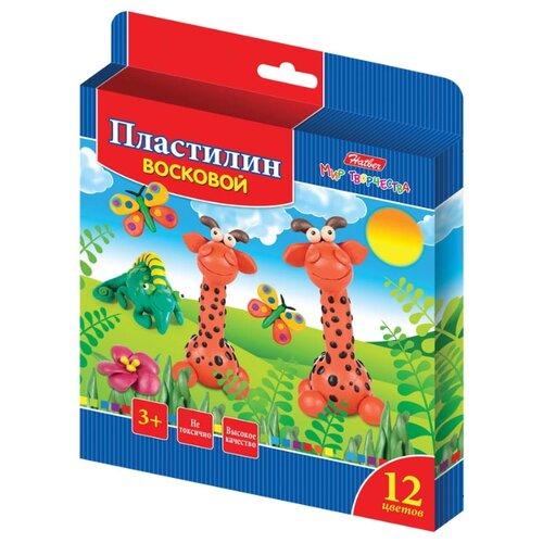 Купить Пластилин Hatber Забавные зверята 12 цветов (kpv_12260), Пластилин и масса для лепки