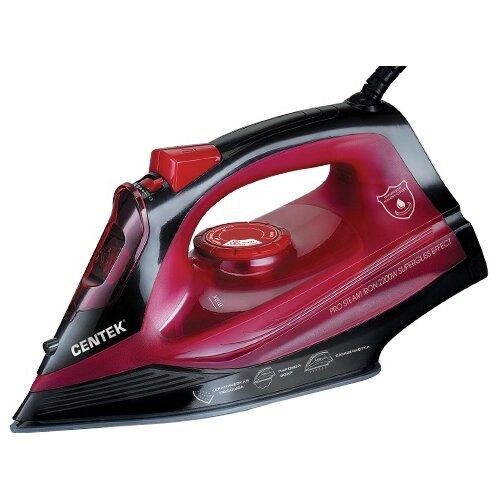 Утюг CENTEK CT-2351 красный/черный утюг centek ct 2338 2600вт фиолетовый