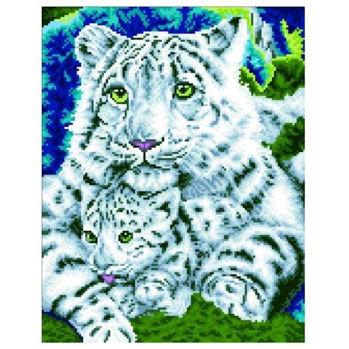 Цветной Набор алмазной вышивки Нежная хищница (LG019) 40х50 см
