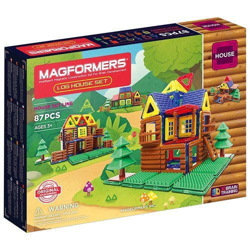 Конструктор Magformers House 705004 Бревенчатый домик magnetic constructor 705004 log house set files