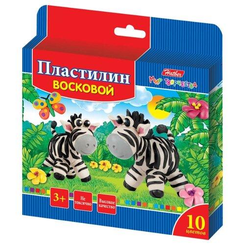 Купить Пластилин Hatber Забавные зверята 10 цветов (kpv_10260), Пластилин и масса для лепки