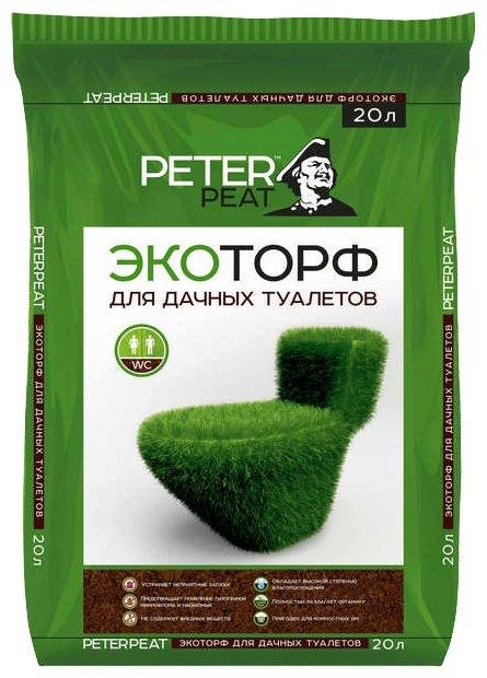 Экоторф PETER PEAT для дачных туалетов 20 л.