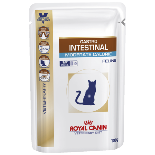 Royal Canin (0.1 кг) 12 шт. Gastro Intestinal Moderate Calorie pauch Лечебные корма
