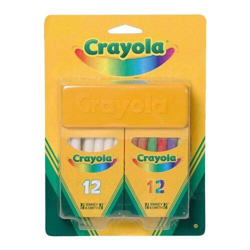 Crayola Набор белых и цветных мелков 24 шт 98268