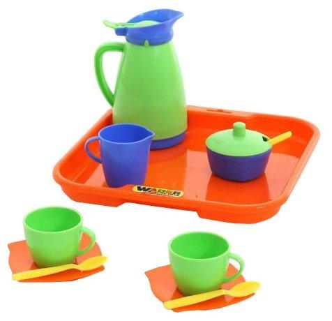 """Набор посуды Полесье """"Алиса"""" с подносом на 2 персоны 40572"""