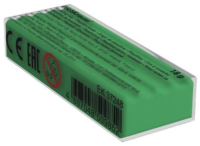 Пластилин ErichKrause Классический зеленый 18 г (37260)