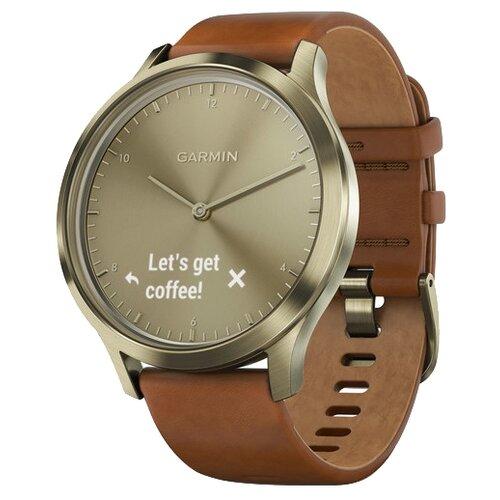 Часы Garmin Vivomove HR Premium золотистый/светло-коричневый