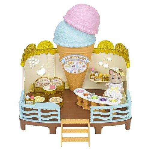 Купить Игровой набор Sylvanian Families Кафе-мороженое 5228, Игровые наборы и фигурки