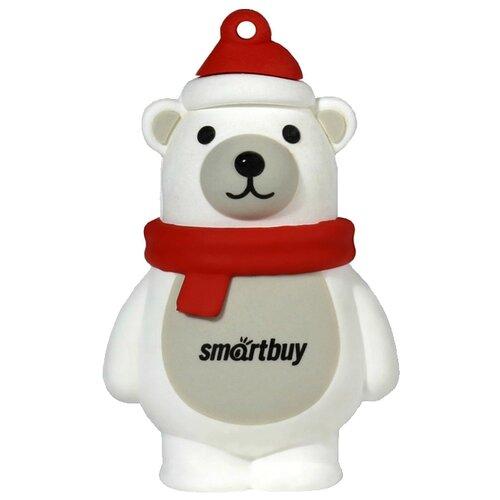 Фото - Флешка SmartBuy NY series Polar Bear 16 GB, белый/красный флешка smartbuy ny series snow 16 gb красный белый