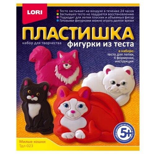 Купить Масса для лепки LORI Пластишка - Милые кошки (Тдл-023), Пластилин и масса для лепки