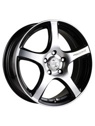 Racing Wheels H-531 6.5x15 4x114.3 ET 40 Dia 67.1 BK F/P - фото 1