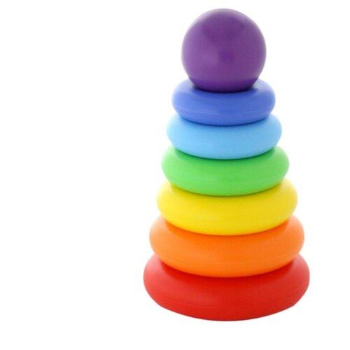 Пирамидка Полесье Колечко-шар, 8 элементов полесье пирамидка полесье занимательная пирамидка 2 10 деталей