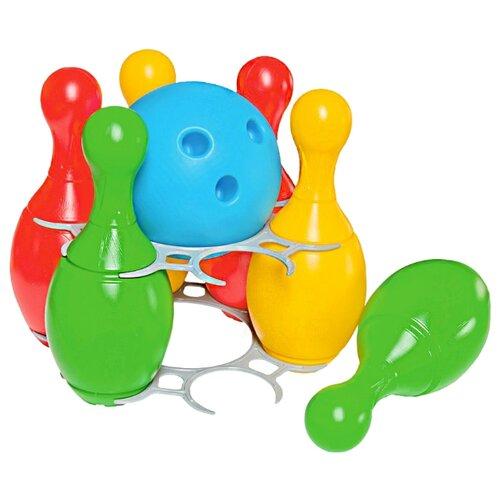 Купить Набор для игры в боулинг ТехноК с подставкой (2919), Спортивные игры и игрушки