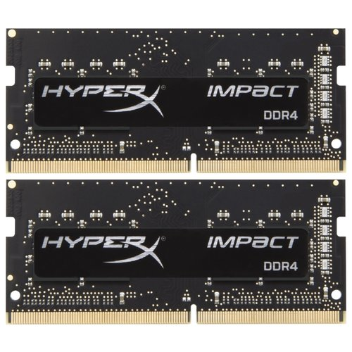 Купить Оперативная память HyperX Impact DDR4 2400 (PC 19200) SODIMM 260 pin, 4 ГБ 2 шт. 1.2 В, CL 14, HX424S14IBK2/8