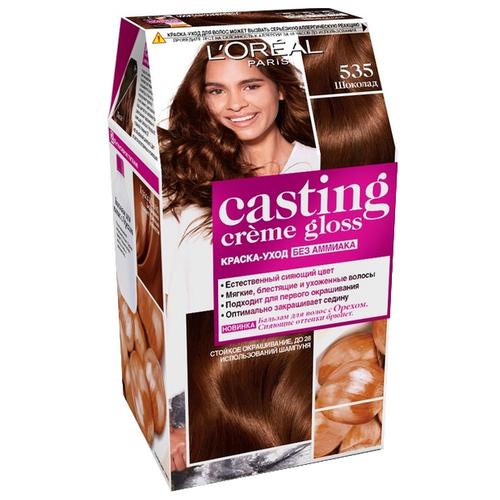 Купить L'Oreal Paris Casting Creme Gloss стойкая краска-уход для волос, 535, Шоколад