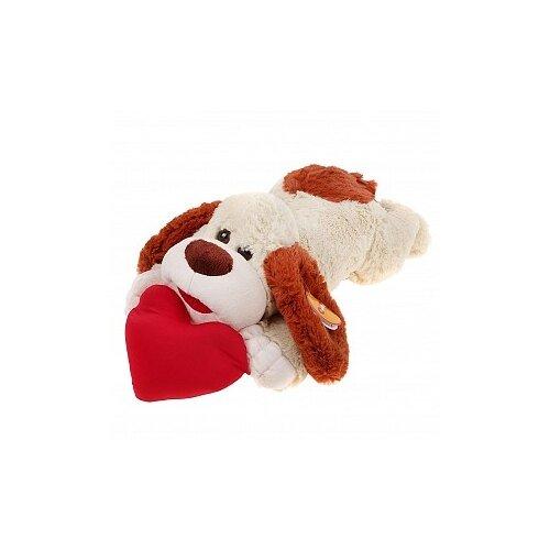Купить Мягкая игрушка СмолТойс Пёс с сердцем 27 см, Мягкие игрушки