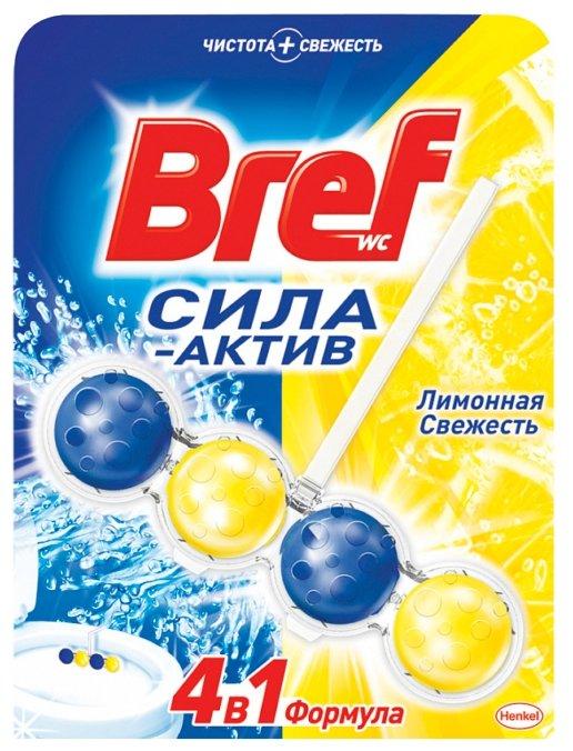 Bref туалетный блок Сила Актив Лимонная свежесть