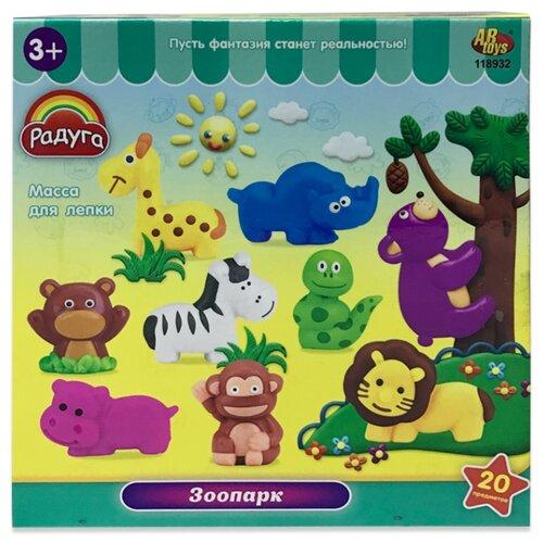 Масса для лепки ABtoys Радуга Зоопарк 20 предметов (118932) масса для лепки abtoys радуга 5 цветов 18 предметов 118929