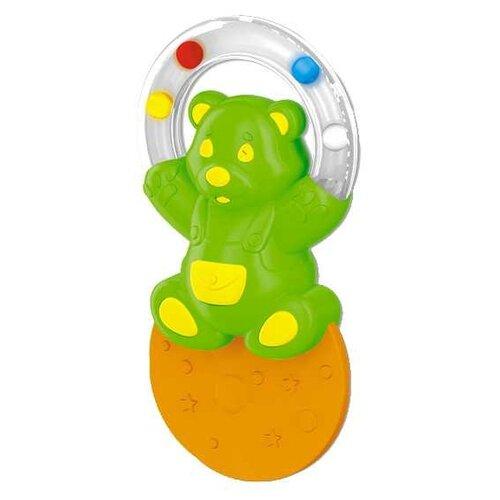 Купить Прорезыватель-погремушка Stellar Жонглер зеленый мишка, Погремушки и прорезыватели