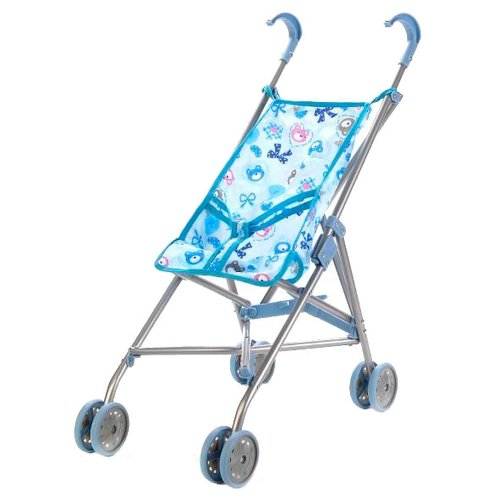 Купить Прогулочная коляска Карапуз 63AC-C1 голубой, Коляски для кукол