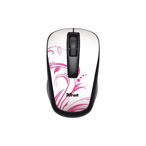 Мышь Trust Qvy Wireless Micro Mouse pink swirls Black USB