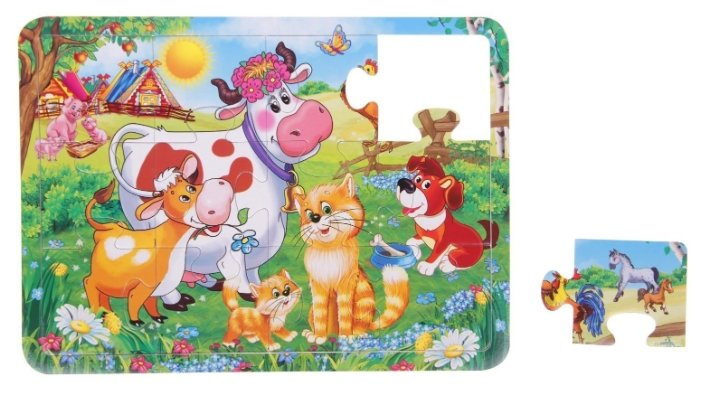 Рамка-вкладыш Умка Maxi Домашние животные (4690590104262), 12 дет.