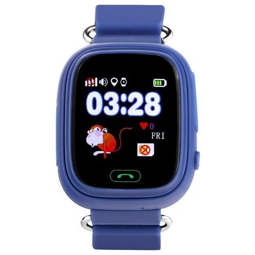 Детские умные часы c GPS Smart Baby Watch Q80 синий детские умные часы smart baby watch q80 желтый