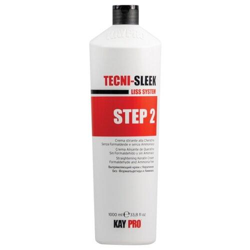 Фото - KayPro Tecni-Sleek Выпрямляющий крем для волос с кератином шаг 2, 1000 мл kaypro tecni sleek выпрямляющий крем для волос с кератином шаг 2 1000 мл